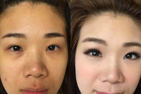 臉型及眼妝調整jojo Chen makeup