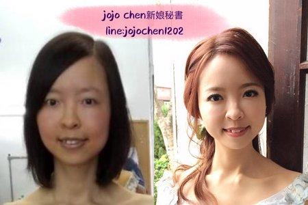短髮新娘的百變造型~jojo chen新娘秘書