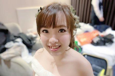 新人淑美白紗造型