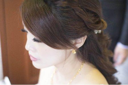氣質公主 編髪 新娘欣穎