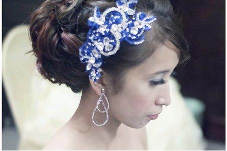 氣質 編髪 新娘藍珍