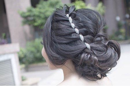 婚紗創作 ~ 髪帶加編