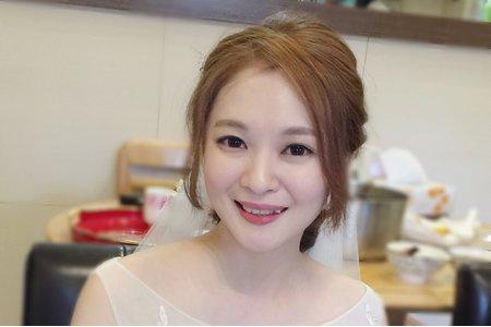 韓式低馬尾 長頭紗 新娘苡暄