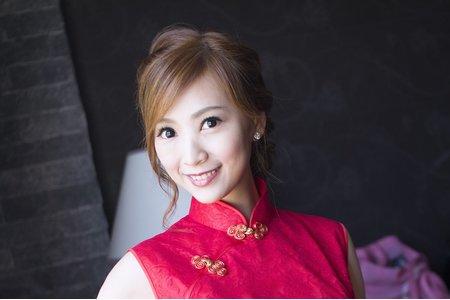 優雅旗袍 編髪 新娘秀萍