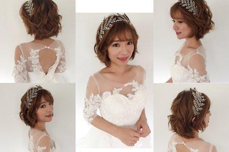 ❤️短髮新娘造型