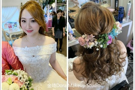 新秘金琦/新娘秘書/結婚造型/捲髮造型