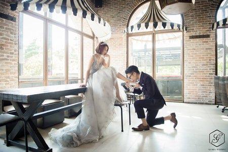GloriaWeddingStudio自助婚紗短髮新娘