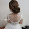 新娘秘書推薦 新秘雨晴|白紗造型|低盤髮造型|氣質髮型