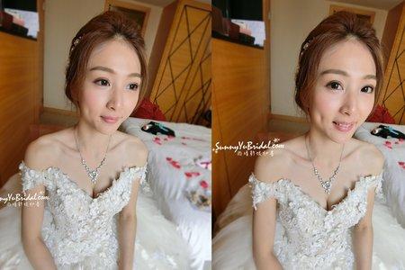 新娘妝髮婚宴造型/白紗造型/乾燥花造型|台北內湖南港新娘秘書推薦|新秘雨晴