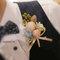 為新娘設計手作的飾品-新郎胸花