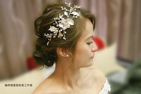 小麥膚色新娘.文訂結婚造型(台北 花蓮 全台新秘)