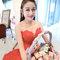 Serin新娘油頭紅色禮服