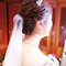 serin白紗皇冠造型編髮低盤