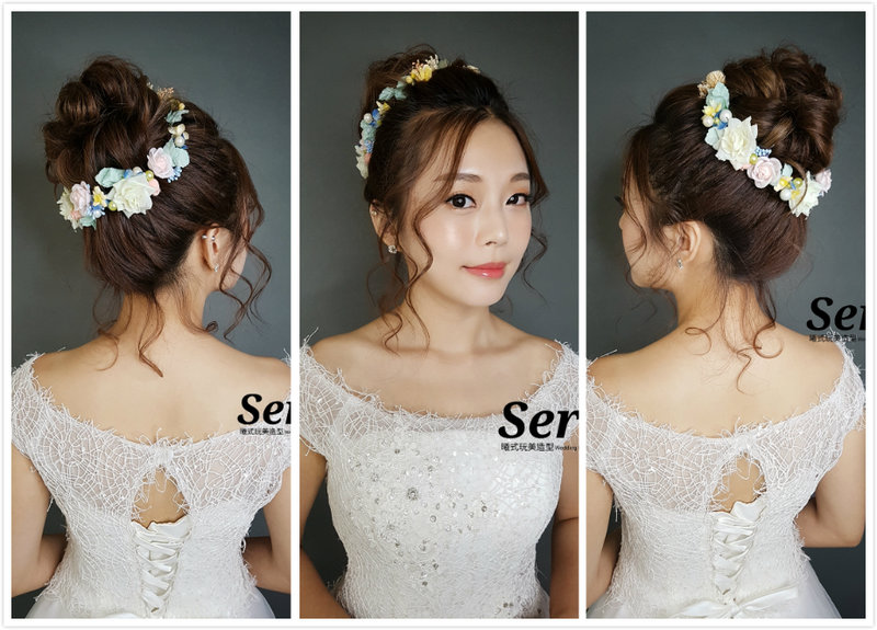 新娘單妝單造型作品