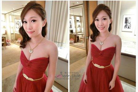 Serin曦曦/甜美編髮X紅色禮服造型匯總