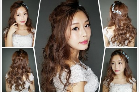 Serinstyle/浪漫編髮造型X韓風精緻妝容