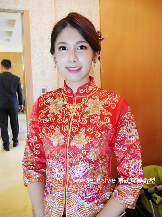Serinmakeup新秘中式新娘龍鳳褂 - Serin Style曦式玩美造型《結婚吧》