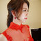 Serin送客紅色禮服新娘造型02