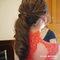 Serin送客紅色禮服新娘造型03
