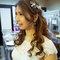 Serin敬酒天藍色禮服新娘造型04