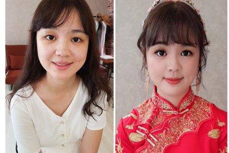 Serin曦曦/中式新娘造型/秀和服龍鳳褂