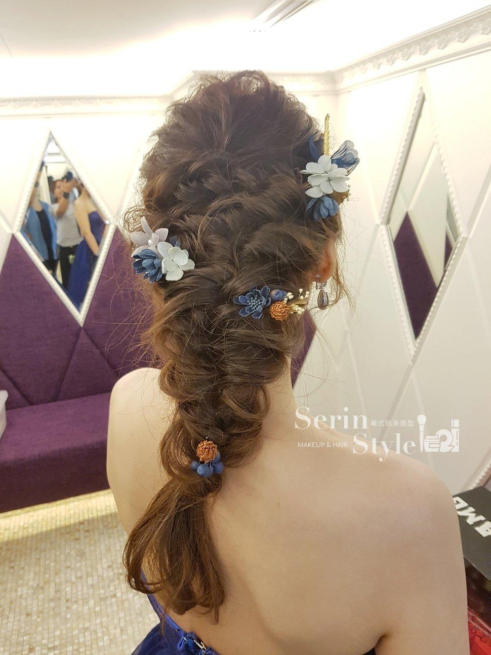 日系編髮藍色禮服新秘Serin - Serin Style曦式玩美造型《結婚吧》