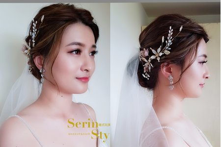 Serinstyle/編髮新娘造型/自然透亮妝感