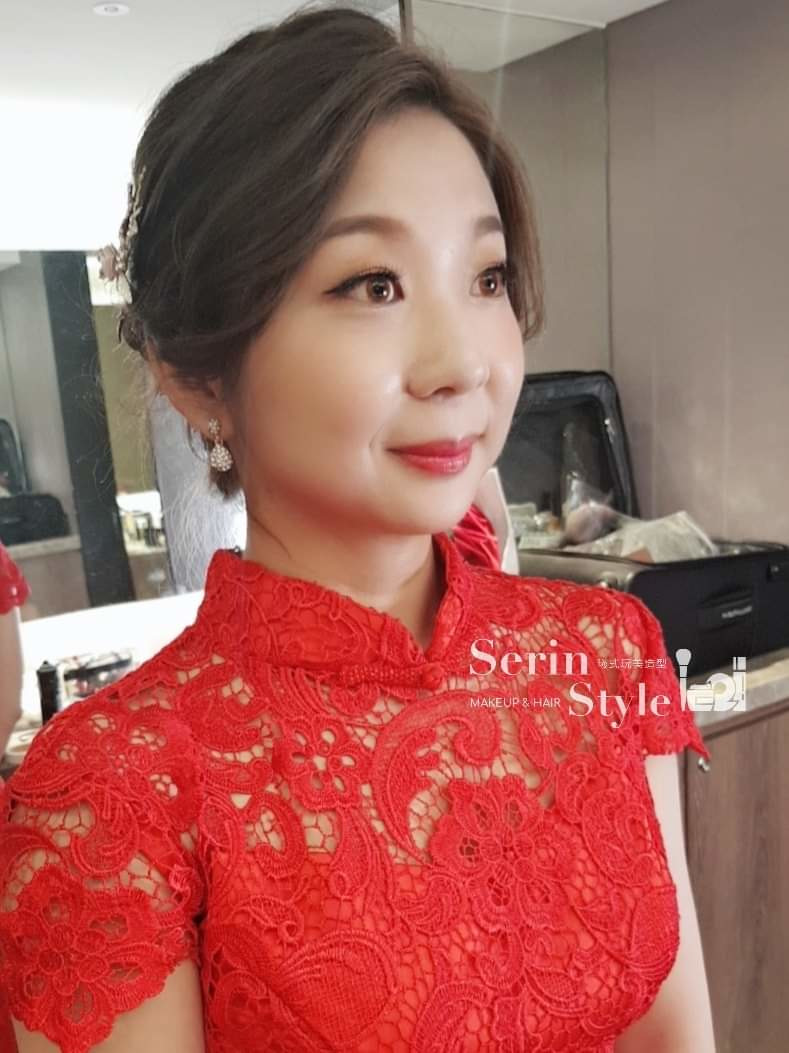 紅色禮服文定造型-Serinstyle - SerinStyle曦式玩美造型《結婚吧》