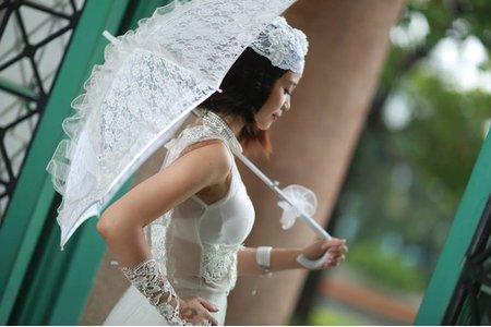 朱朱個人婚紗寫真~輕白紗造型