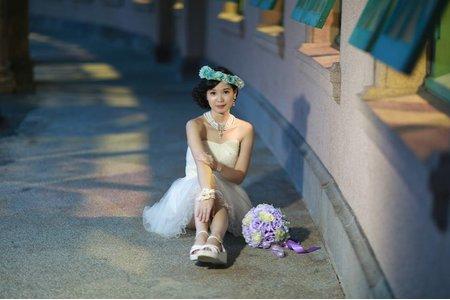 朱朱個人婚紗寫真~短白紗造型