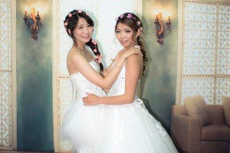 閨蜜婚紗寫真~白紗造型