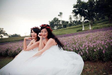 朱朱與晴晴的閨蜜婚紗寫真