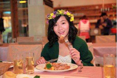 宴客餐廳白紗造型用餐花絮