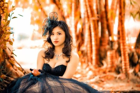花兒的自助婚紗~黑紗造型