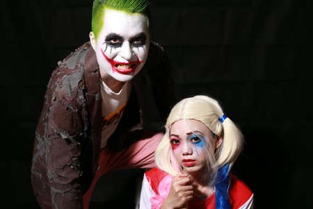 萬聖節小丑與小丑女造型創作