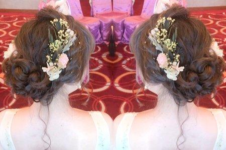 俞秀訂婚日系盤髮