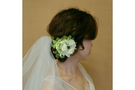 手工花飾新娘造型