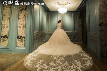 主題禮服:花漾水晶白紗