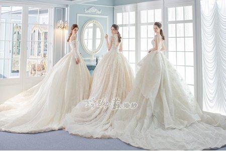 古典蕾絲白紗系列