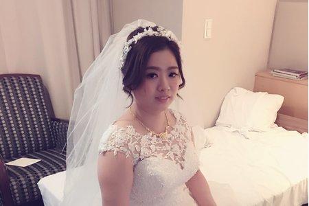 韓式花苞白紗迎娶造型