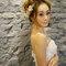 主題婚紗=白雪公主 以白雪公主為主題 利用乾燥花+鬆鬆的髮型和粉色系的妝感 打造出浪漫唯美的感覺(編號:514042)