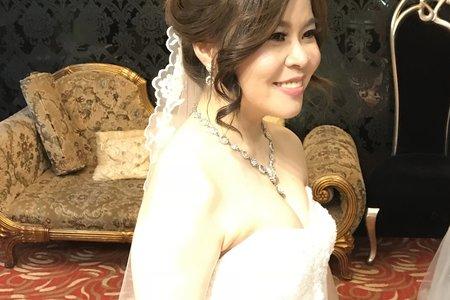 慕楓白紗(公主皇冠+線條盤髮)