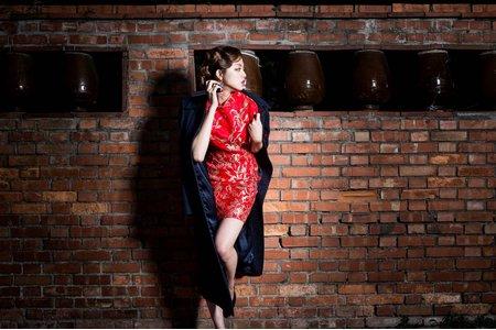 中國風 旗袍 掛裙