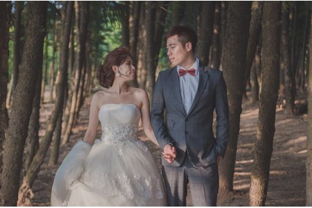 婚紗攝影側拍