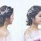 仿混血兒妝浪漫短髮造型-Esme新娘造型