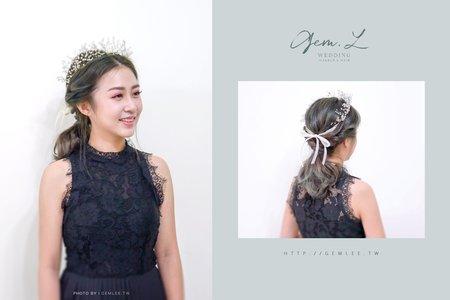 韓系夢幻新娘造型.黑色禮服的高貴優雅