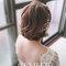 高雄新秘Gem》短髮娃娃混血兒風格新娘造型.人道國際酒店