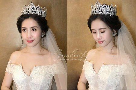 高雄新秘Gem》清新透亮韓式婚禮新娘造型.2021檔期搶先預訂中