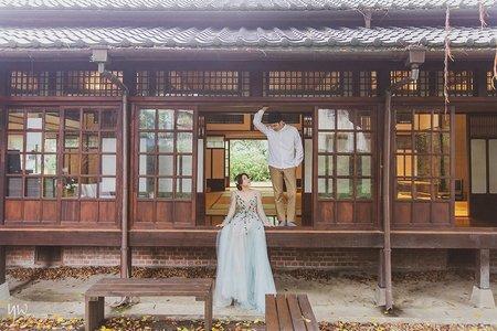 【婚紗】日式建築  街拍 森林  輕婚紗 自然清新