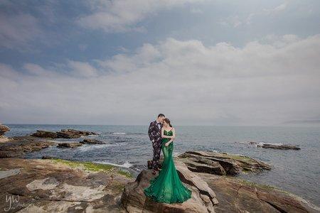 【婚紗】氣勢岩岸  婚紗基地 唯美海邊